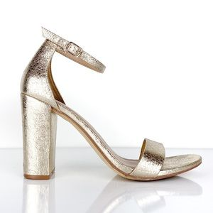 A New Day Ema Gold Block Heel Sandal